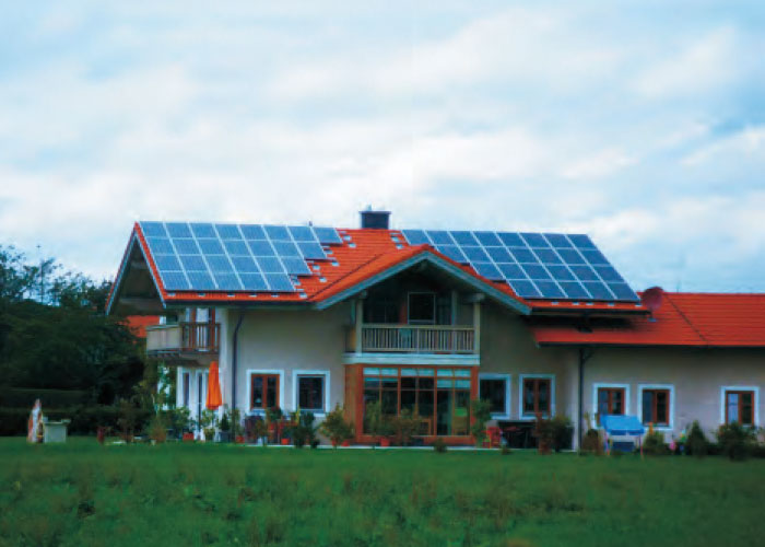 5.6KW Munich,Germany Residential rooftop photovoltaic power station