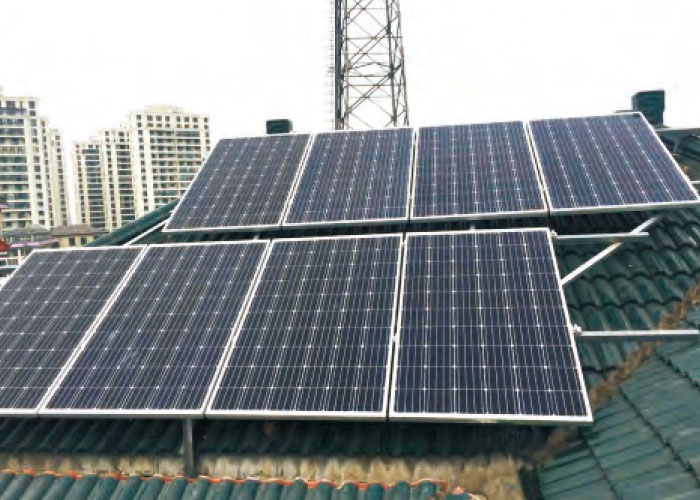 11 KW The city of Gao Bu Town in Shaoxing City Residential rooftop photovoltaic power station