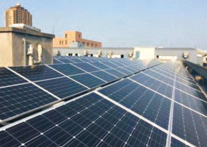2.6MW Hangzhou Silikang Industrial roof photovoltaic power plant