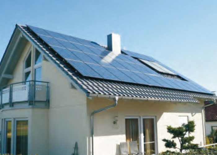 10KW Pu Nan Street, Pujiang County Residential rooftop photovoltaic power station